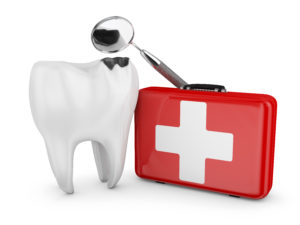 An illustration of a dental emergency.